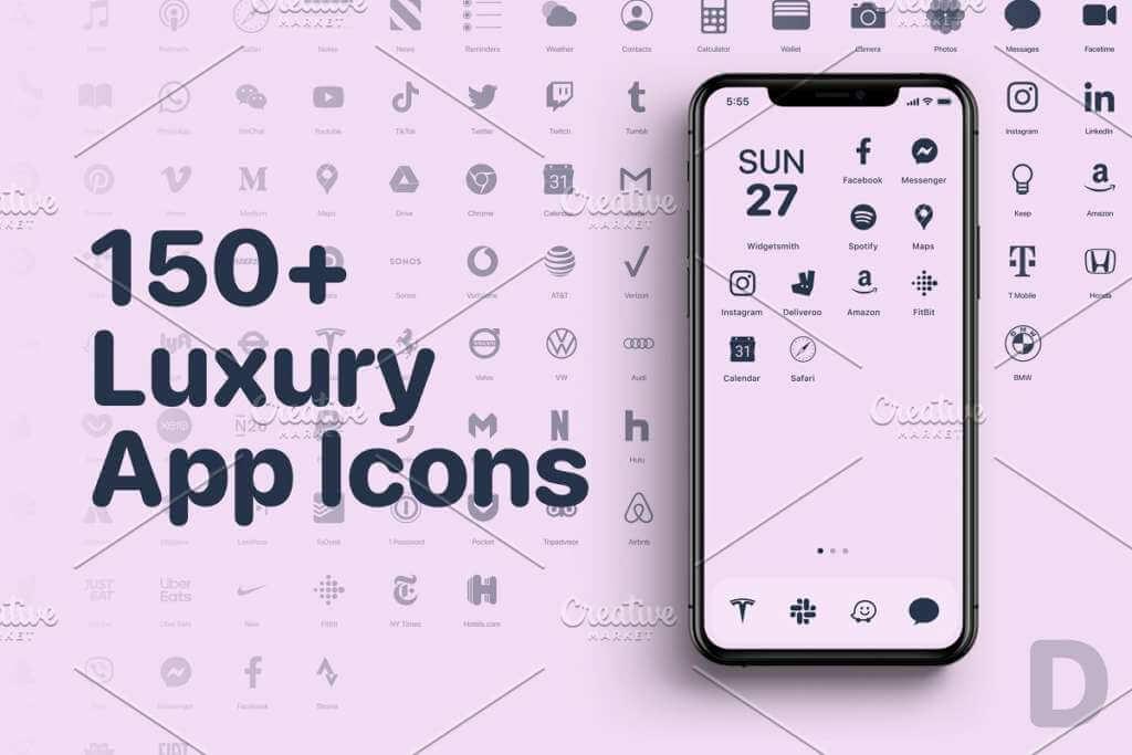 iOS 14 Luxury iPhone App Icons • D