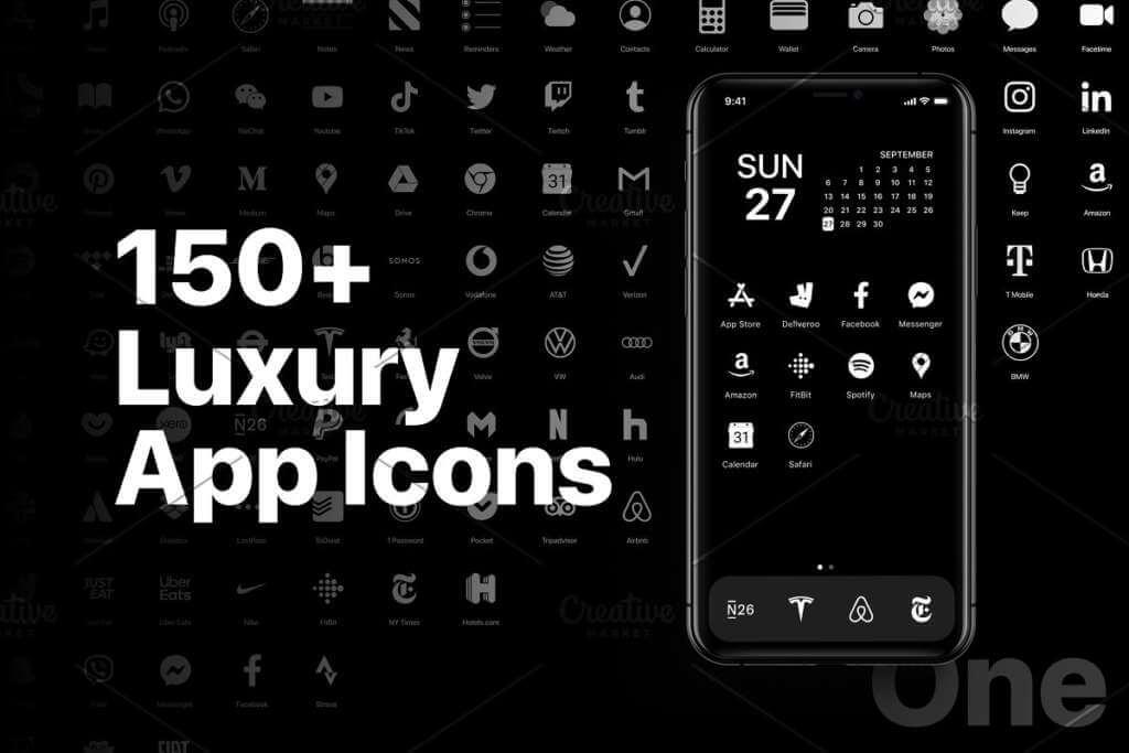 iOS 14 Luxury iPhone App Icons • One