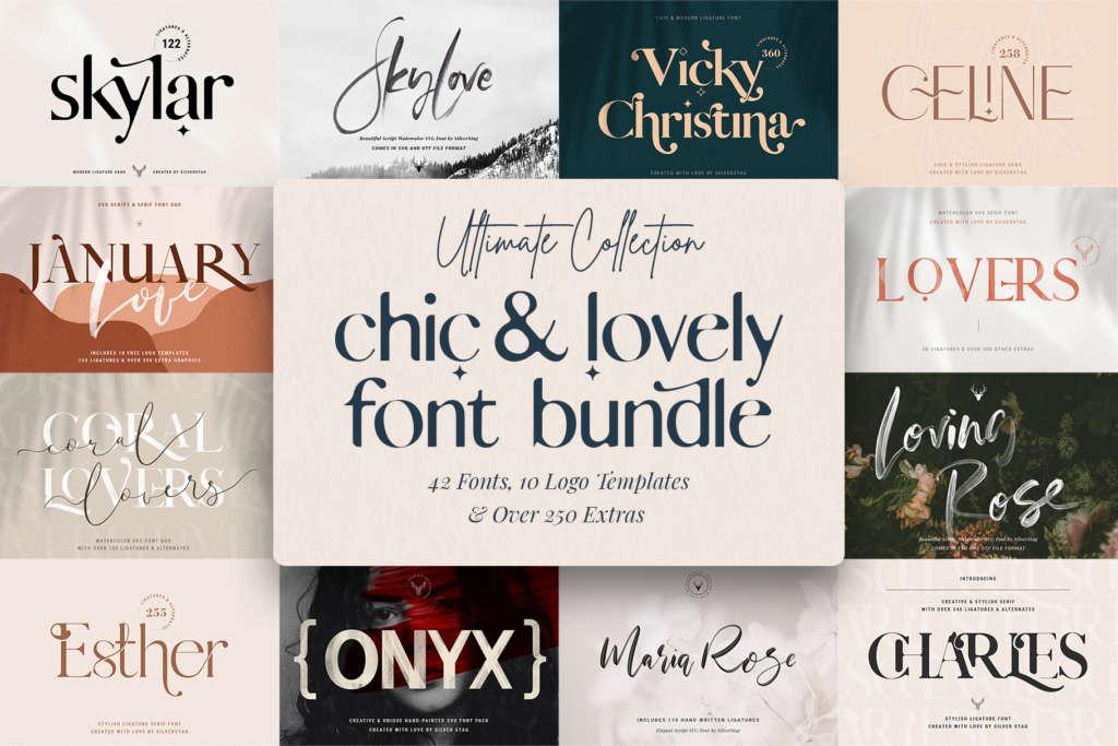 Chic & Modern Font Bundle – 90% OFF