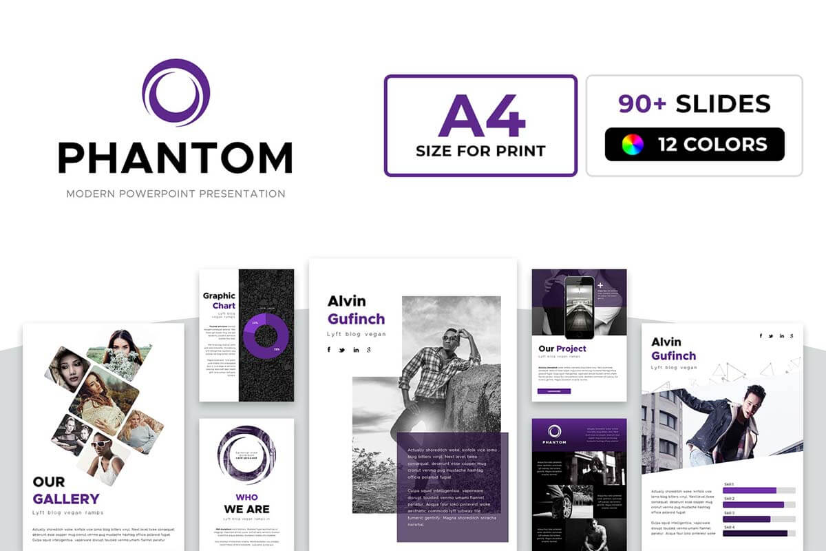 A4 Phantom PowerPoint Template
