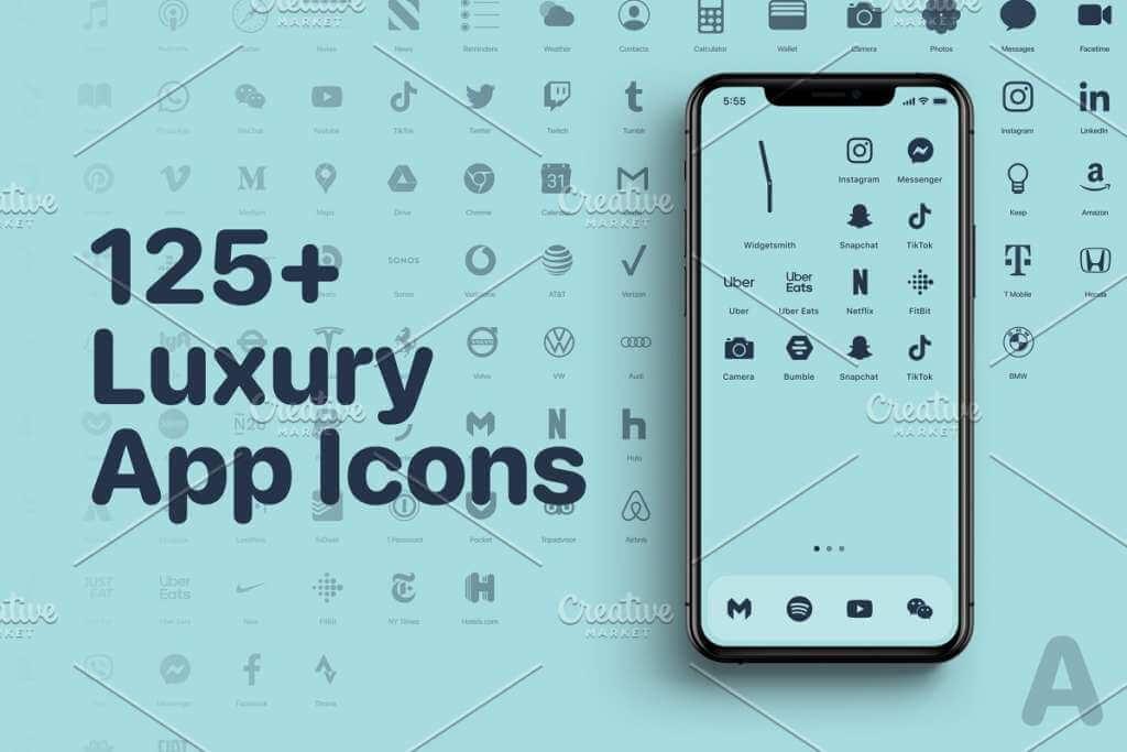 iOS 14 Luxury iPhone App Icons • A