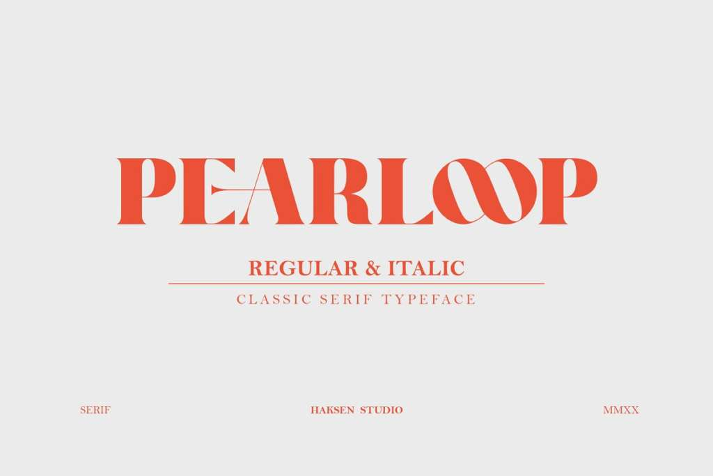 PEARLOOP a Classic Serif Typeface