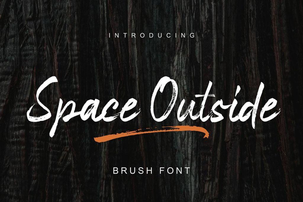 Space Outside Handbrush Font