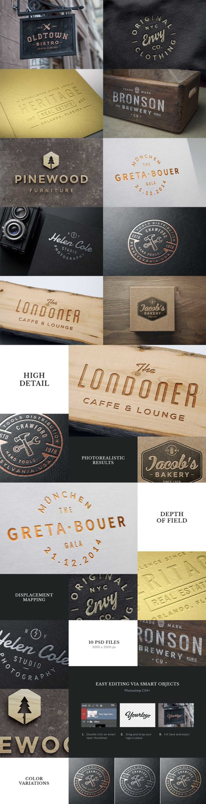 10 Logo & Badge Mock-Ups Vol. 3