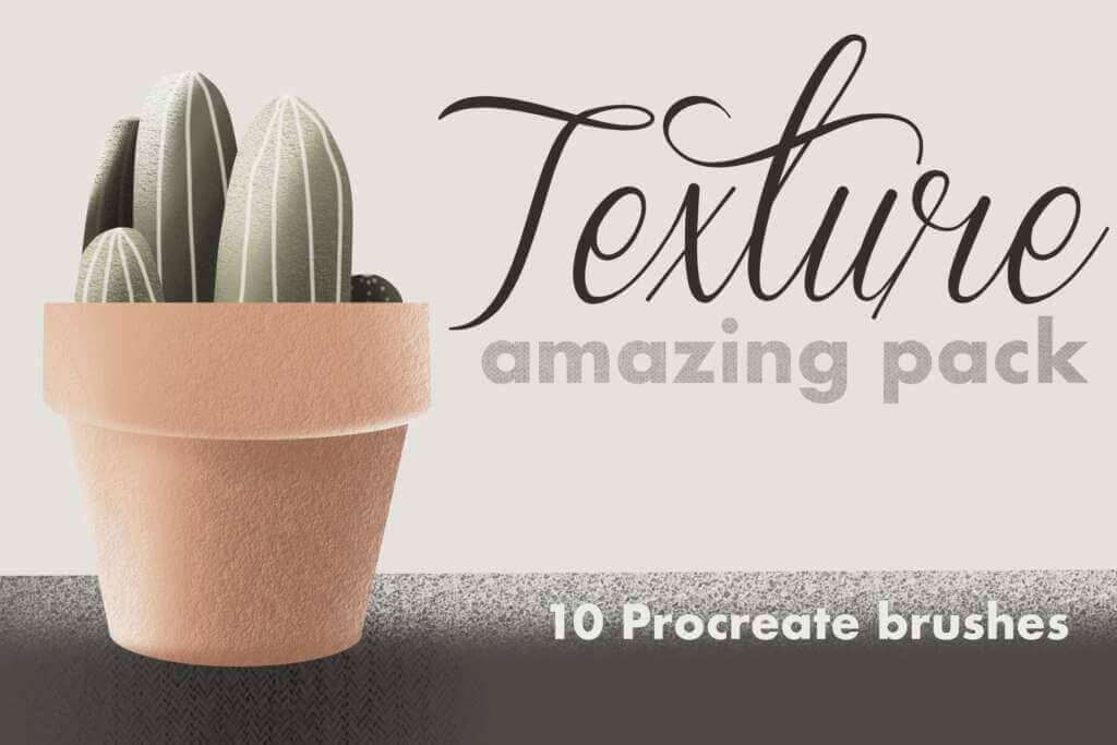 10 Texture brushes for Procreate