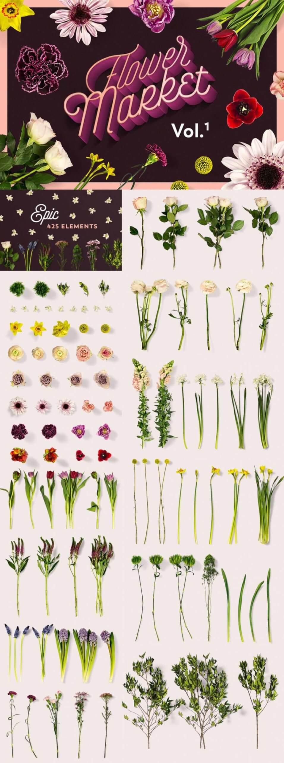 FLOWER MOCKUPS MARKET VOL. 1