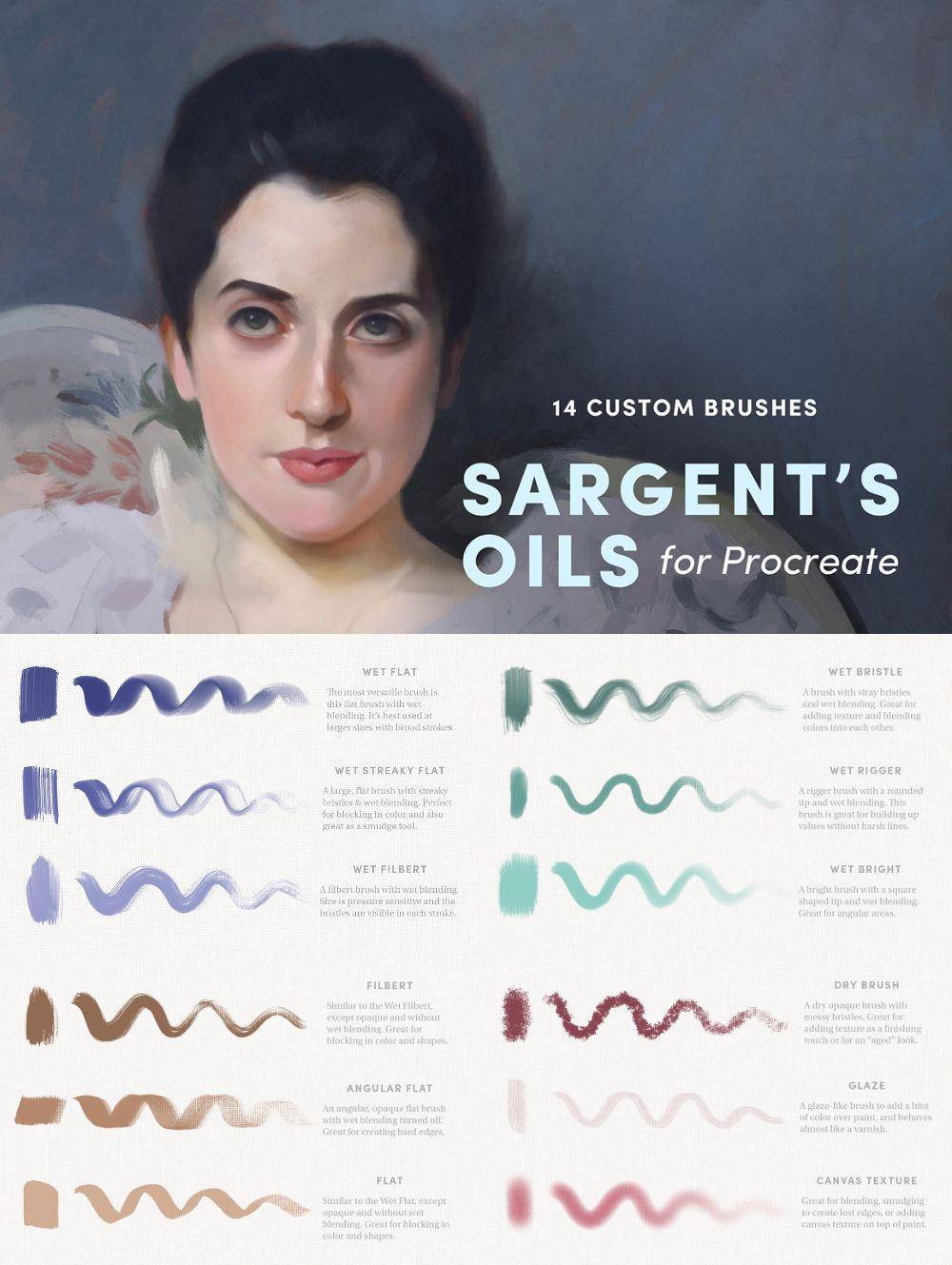 Sargent's Oils – Procreate Brushes