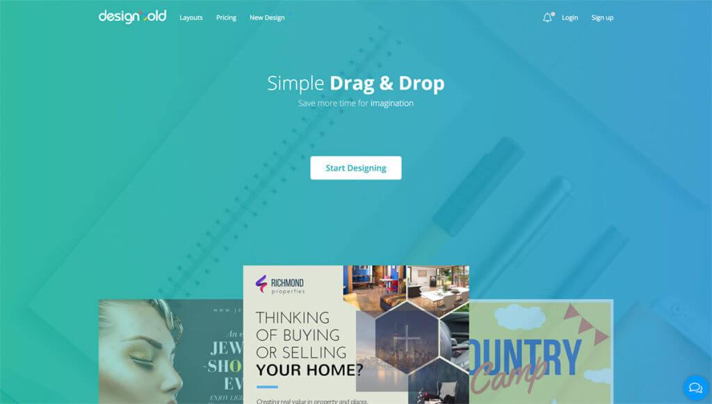 designboldホーム画面