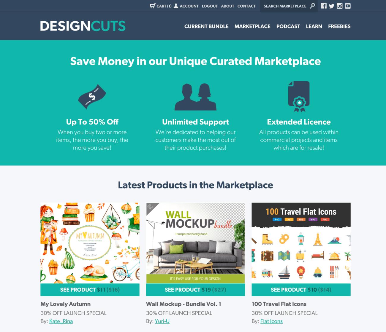 designcuts英語版のホームページ