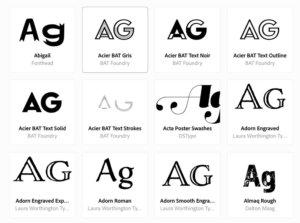 Typekitの装飾フォント