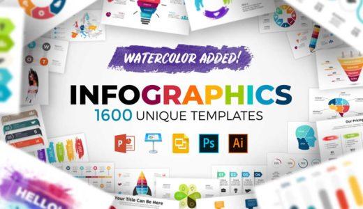 図形やチャートを1600点以上収録!商用利用可能でキーノート&パワポ対応インフォグラフィックス素材