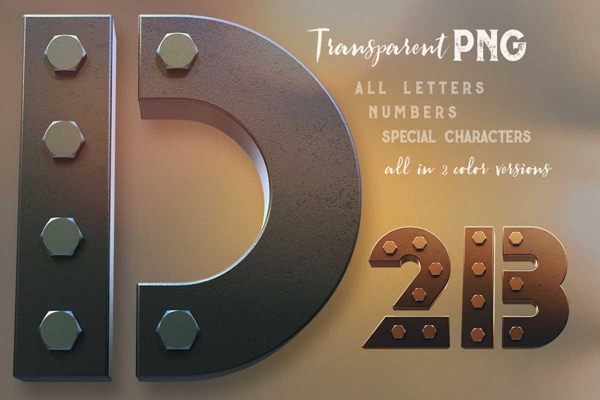 Secure 3D Lettering