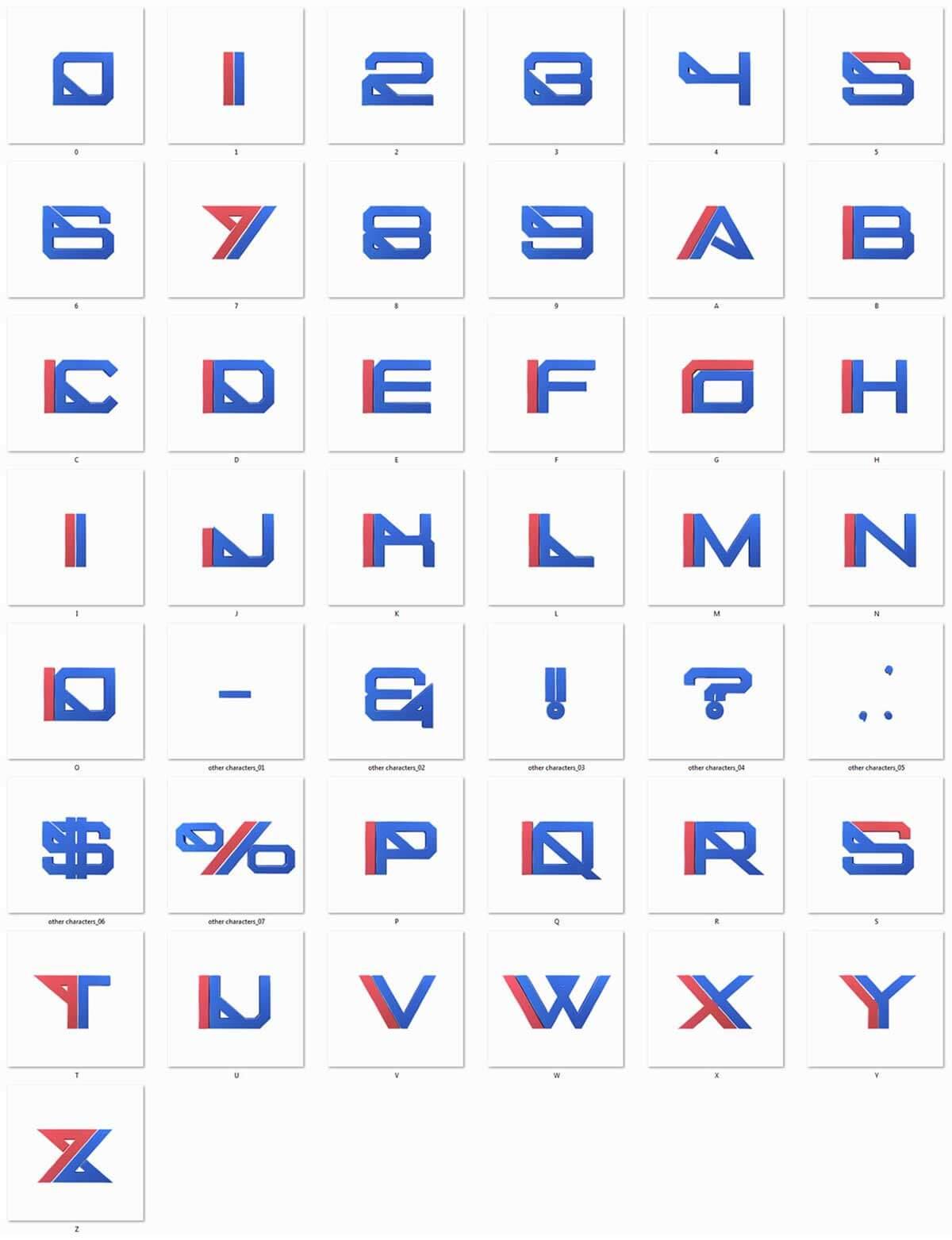 Futuristic 3D Lettering