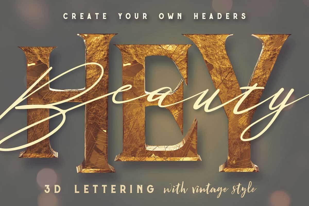 Vintage Style 3D Lettering