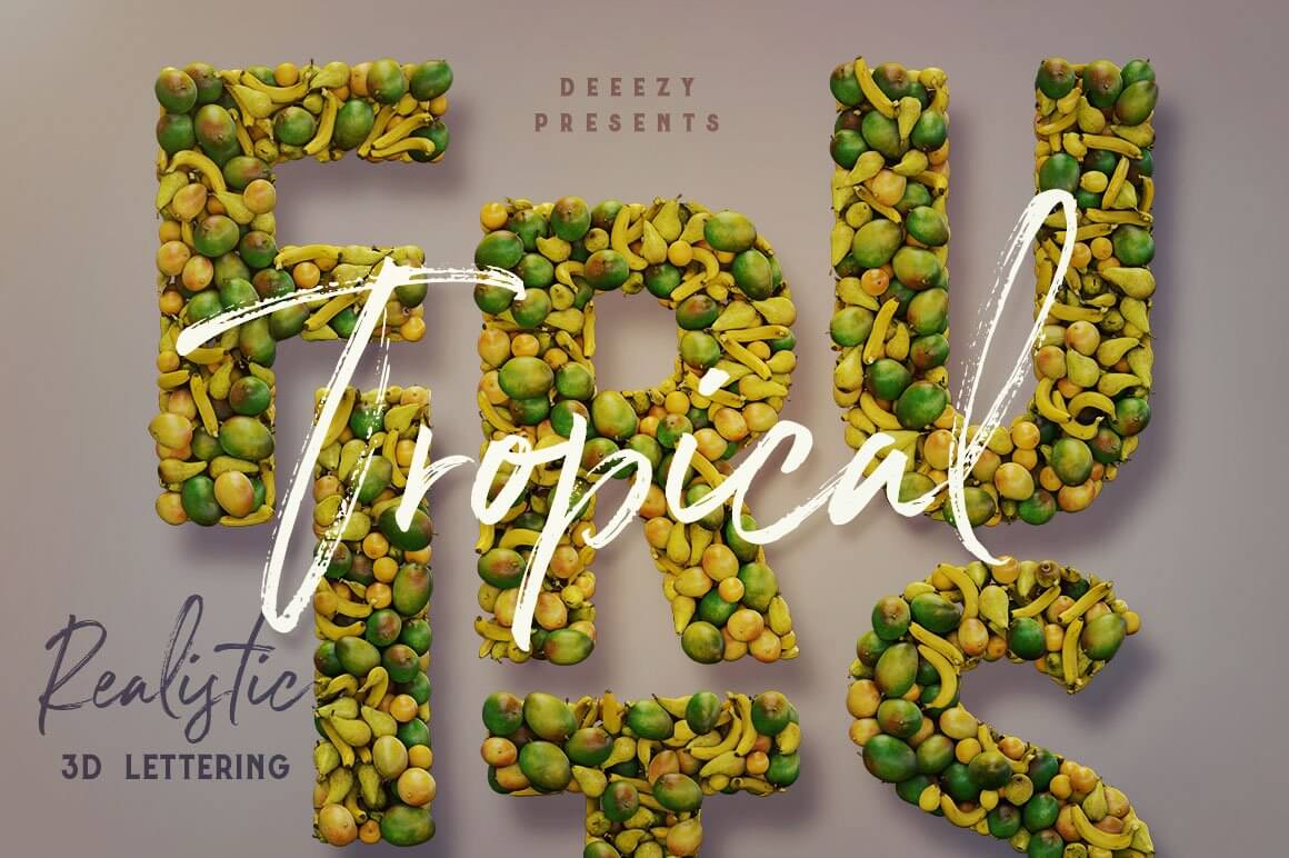 Fruits - 3D Lettering