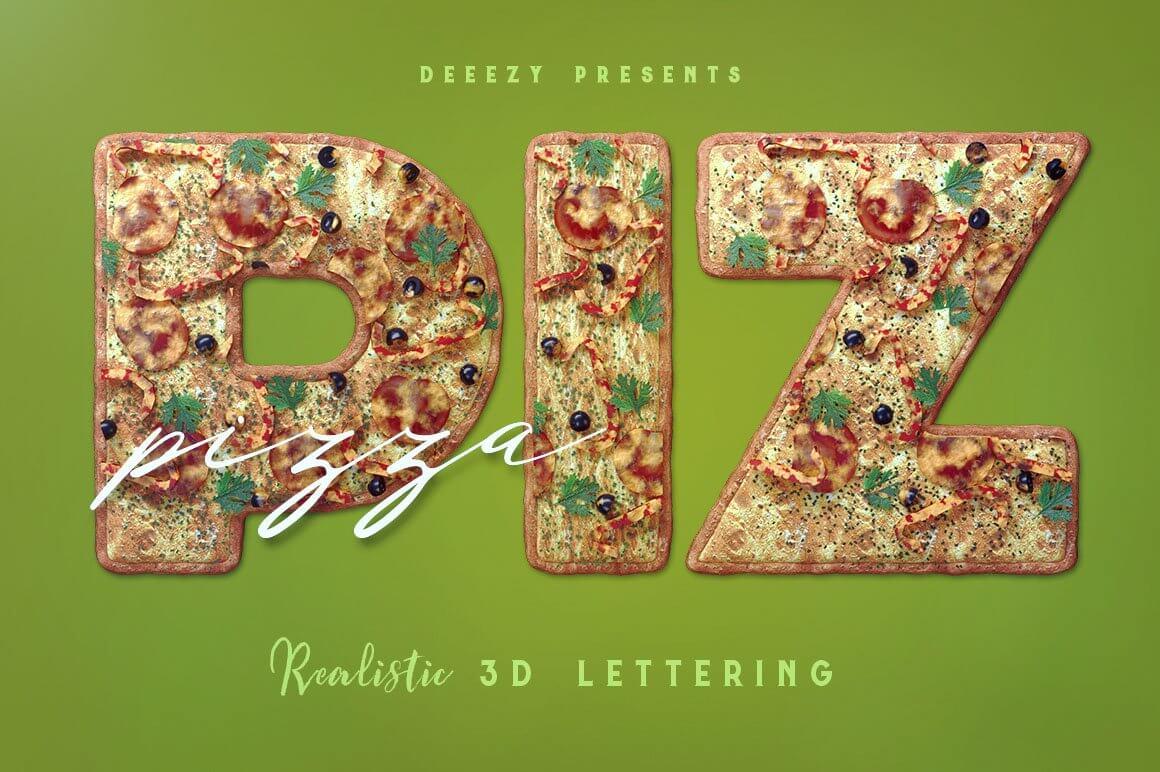 Pizza - 3D Lettering