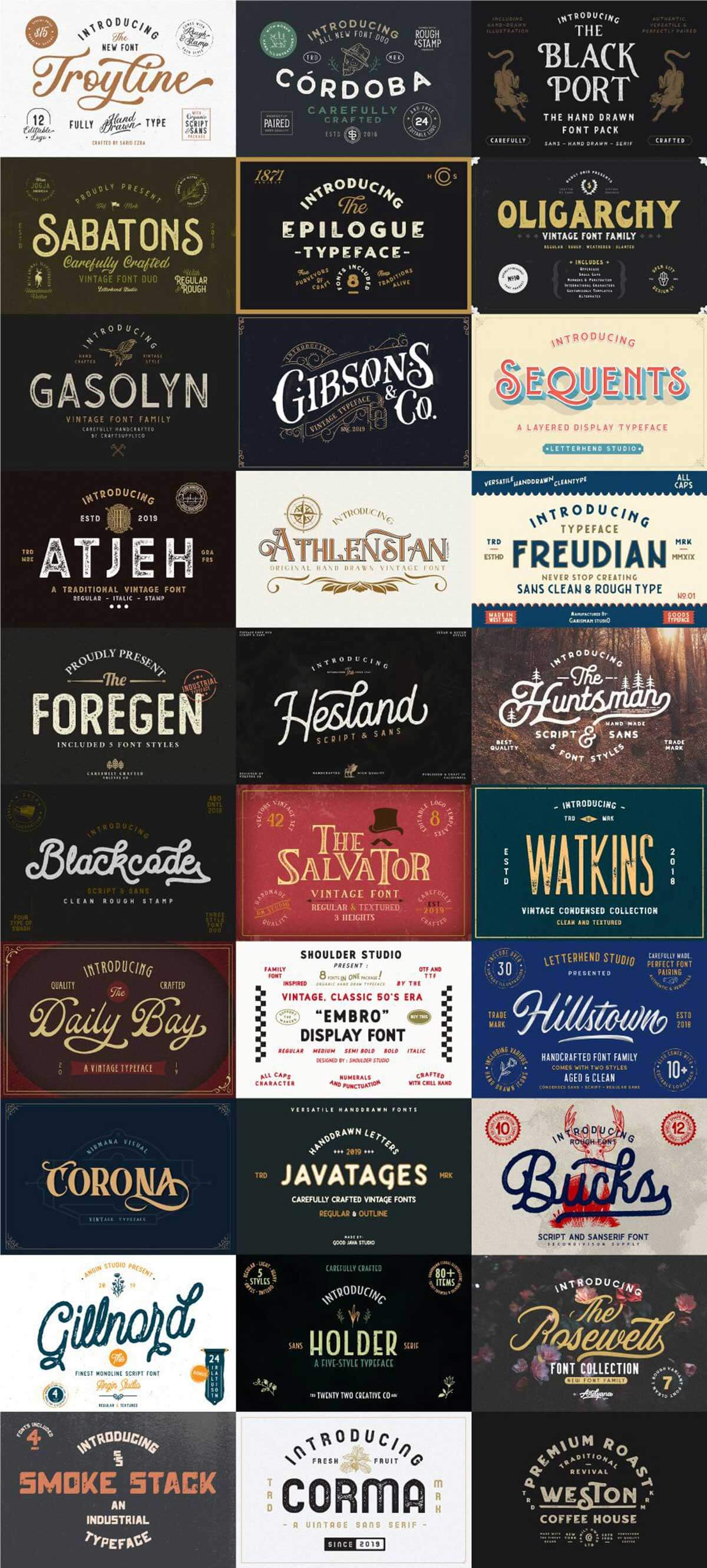 The Rustic Font Bundle