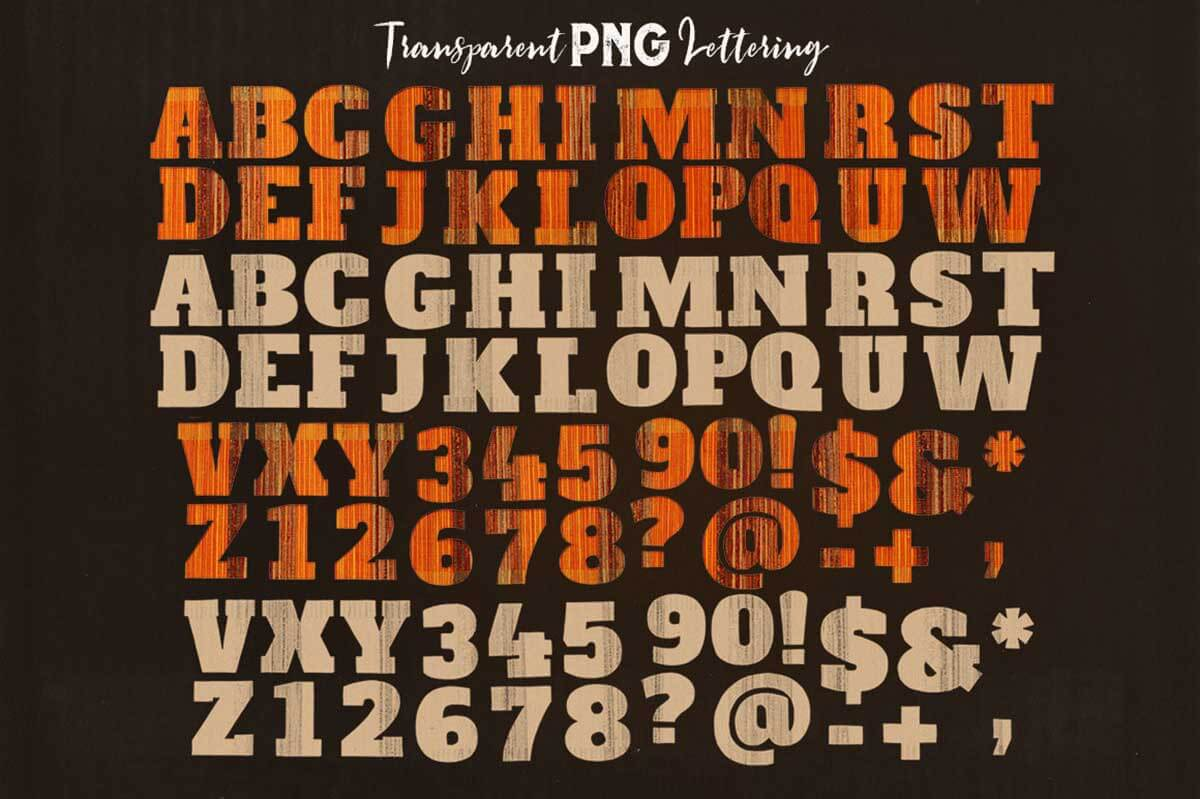 Creative PNG Lettering 1