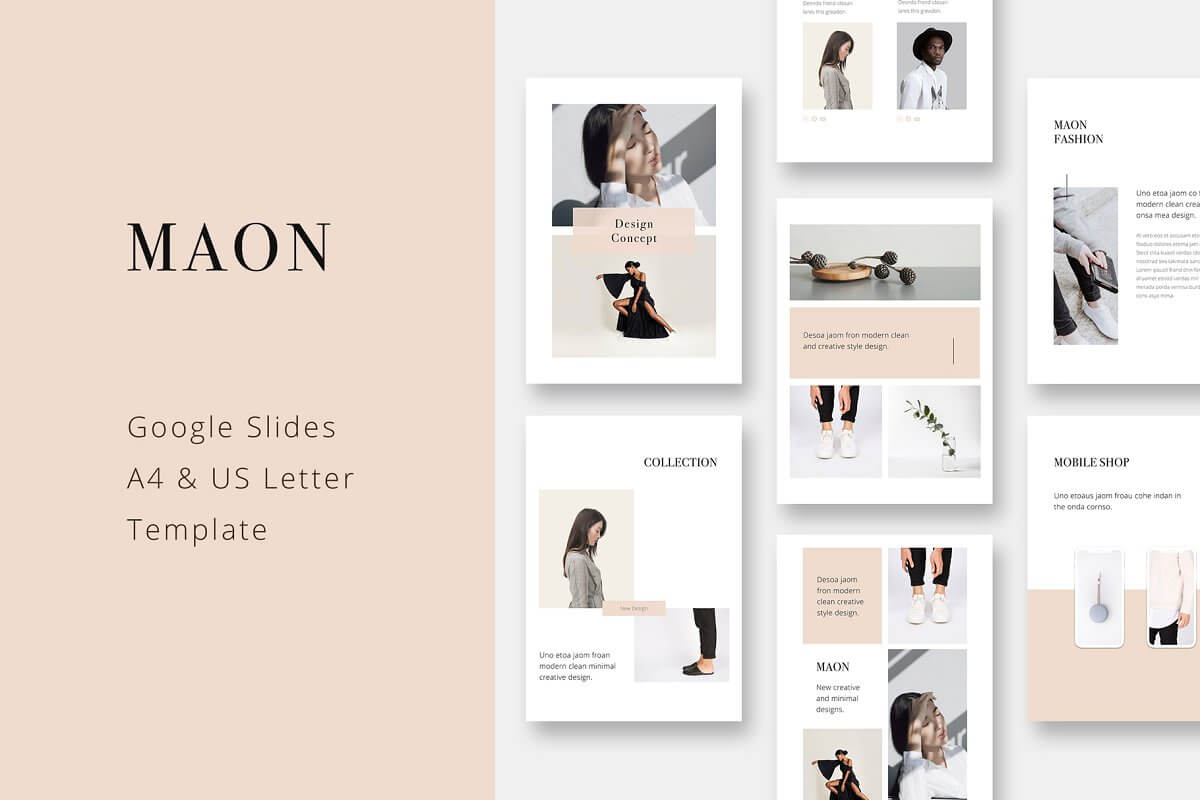 MAON- Vertical Google Slide Template
