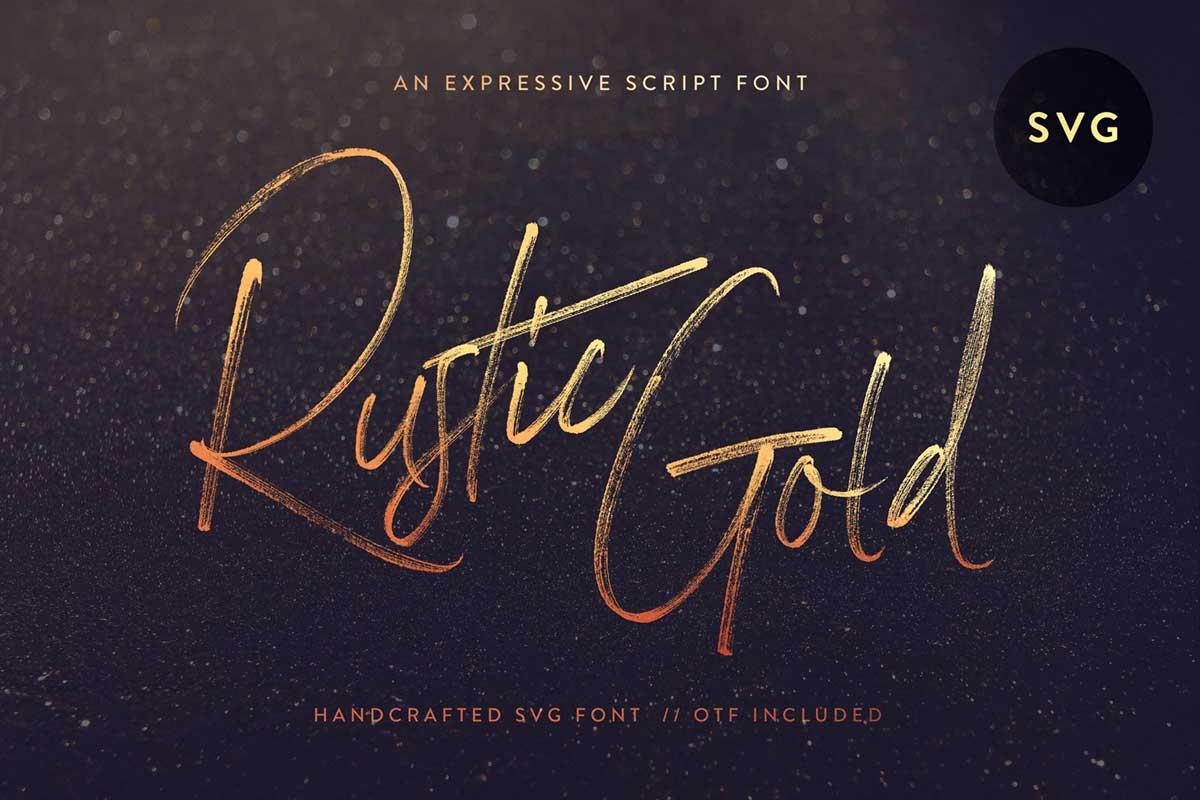 Rustic Gold SVG - Tom Chalky