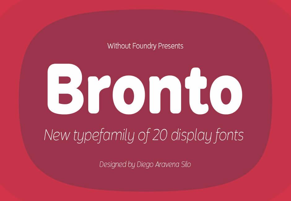 bronto font