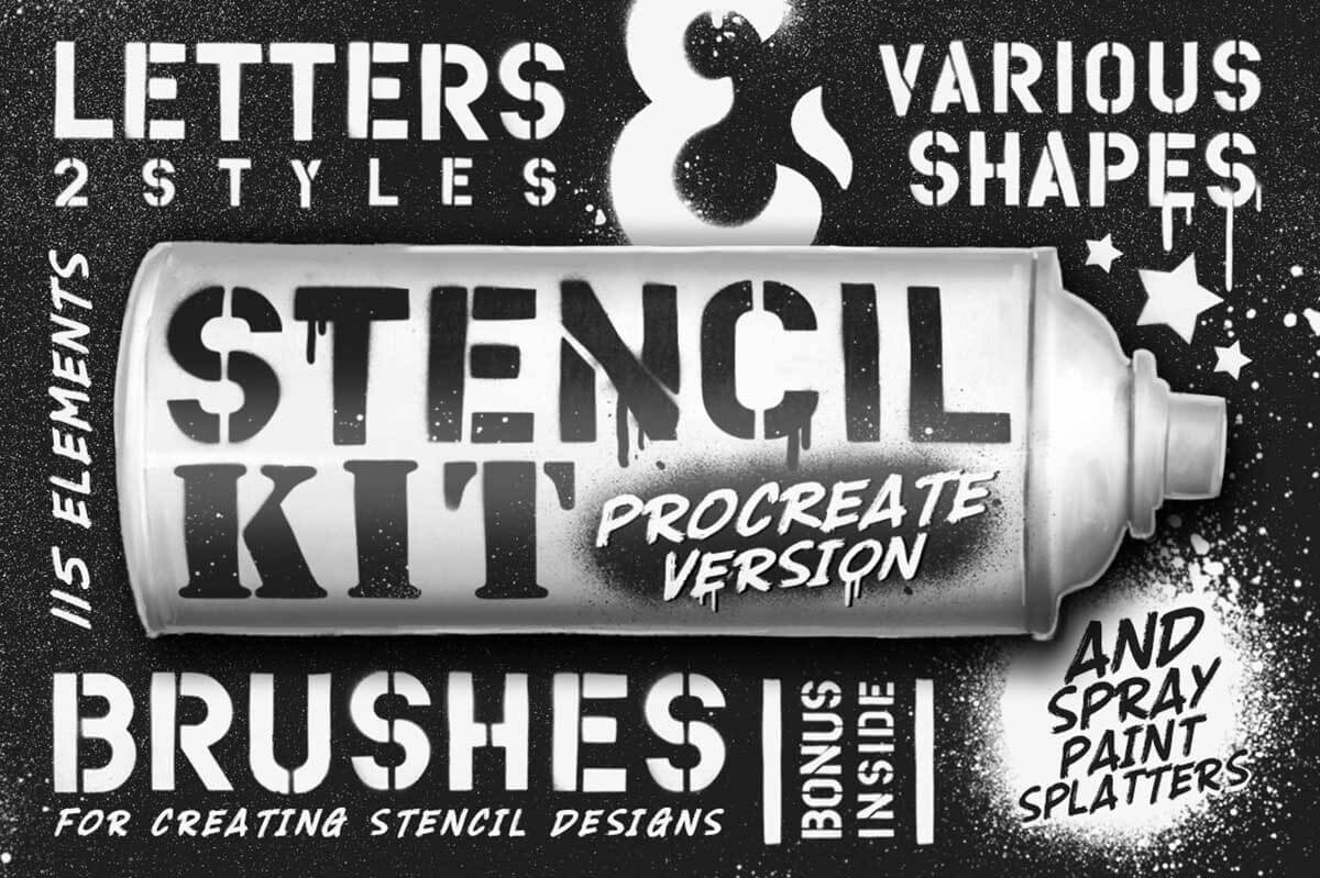 Stencil Kit Procreate Brushes
