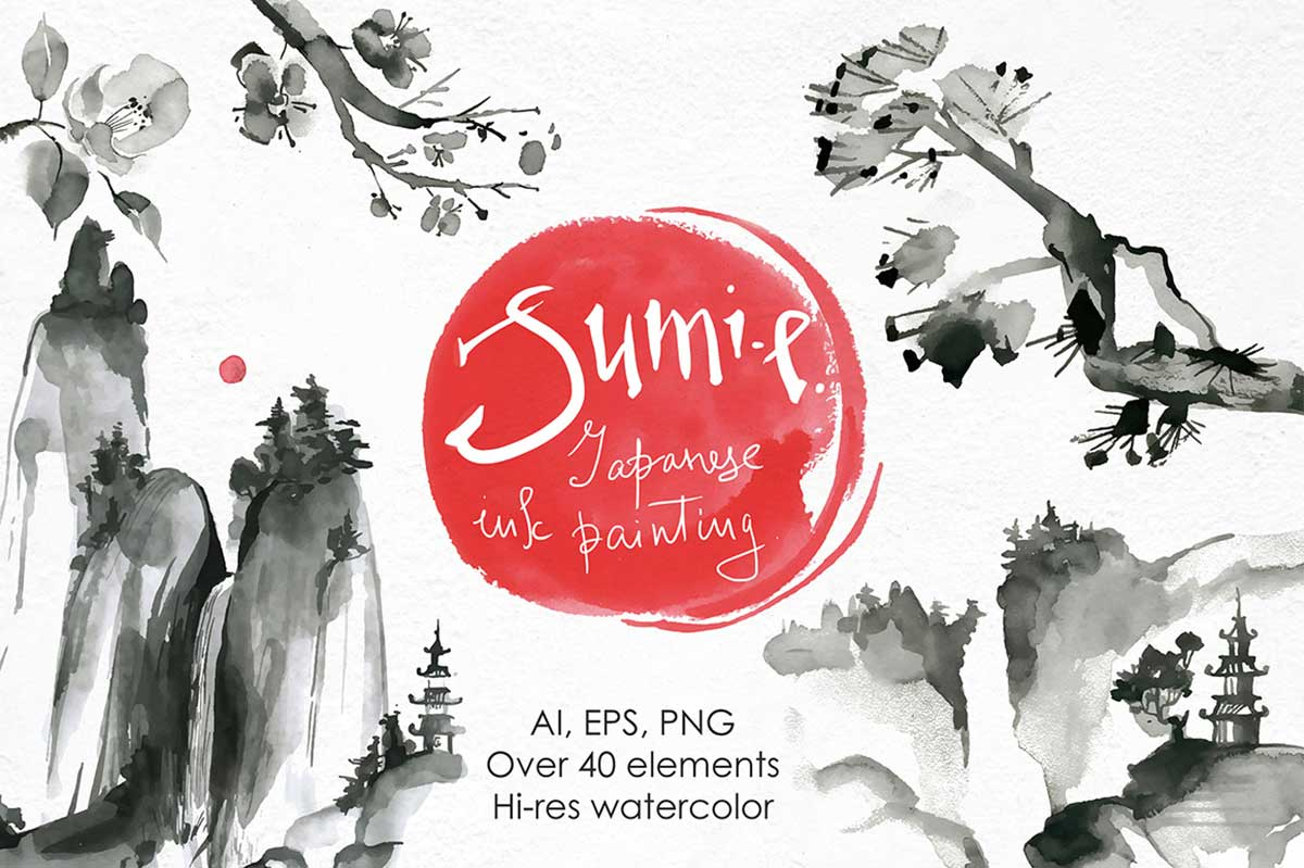 SUMI-E – JAPANESE INK PAINTING