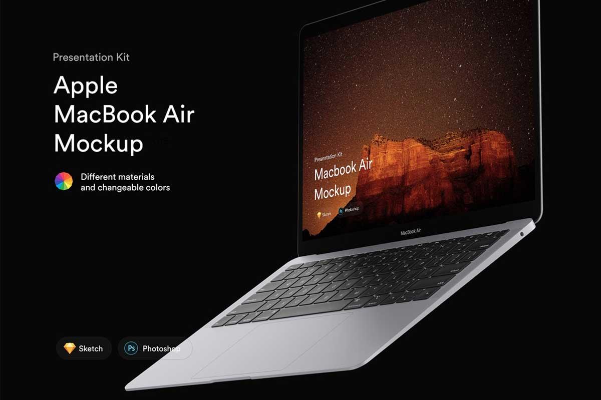 MacBook Airのモックアップ