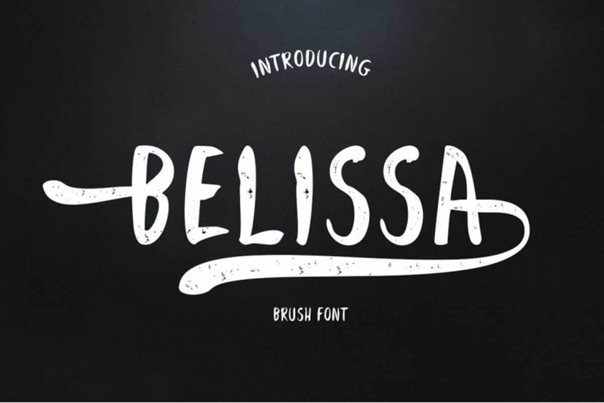 Belissa Brush Font by JhoelDesign