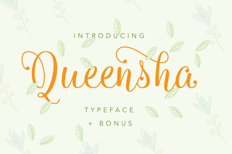 Queensha Typeface by IanMikraz Studio