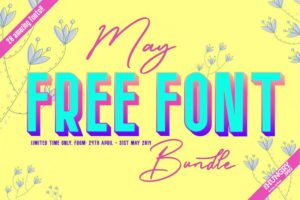 The May Free Font Bundle 2019