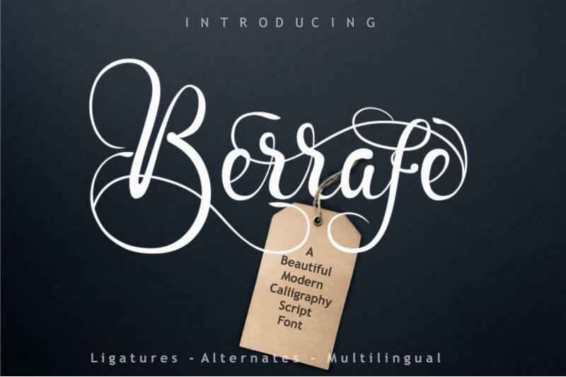 Berrafe Font by leamsign