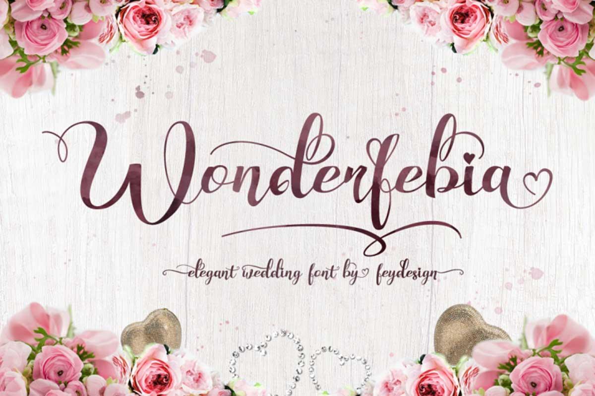 Wonderfebia - Script Wedding Font by feydesign