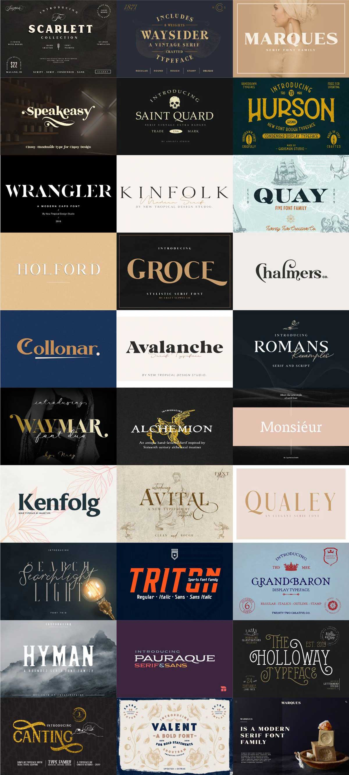 The Modern Serif Font Bundle
