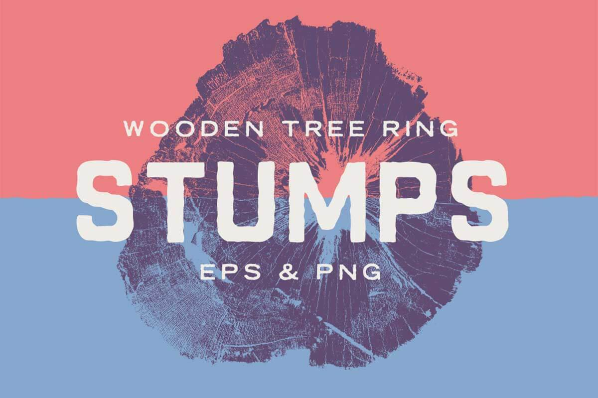 WOOD TREE RING STUMPS