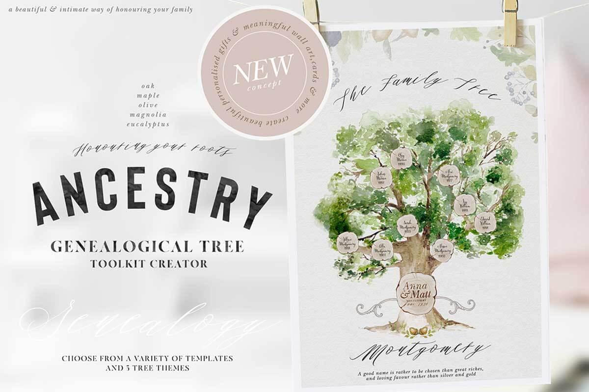 ANCESTRY – GENEALOGICAL TREE TOOLKIT CREATOR
