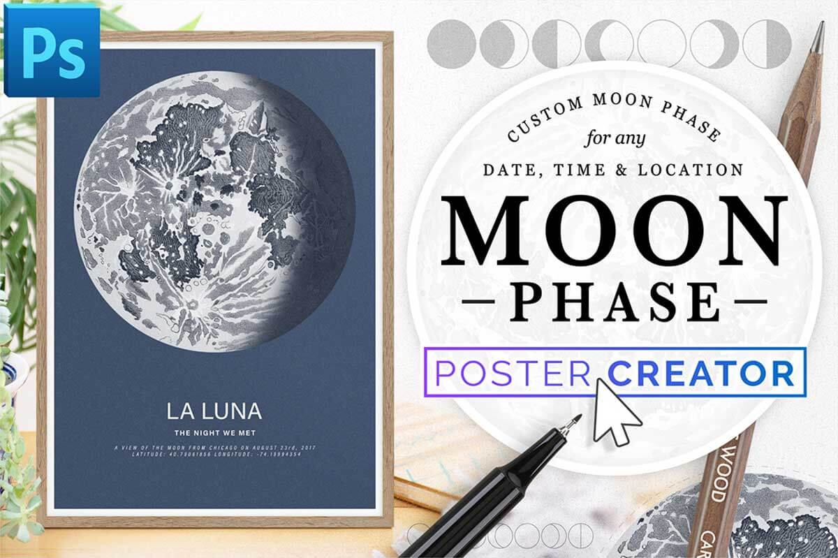 LUNAR PHASE POSTER CREATOR