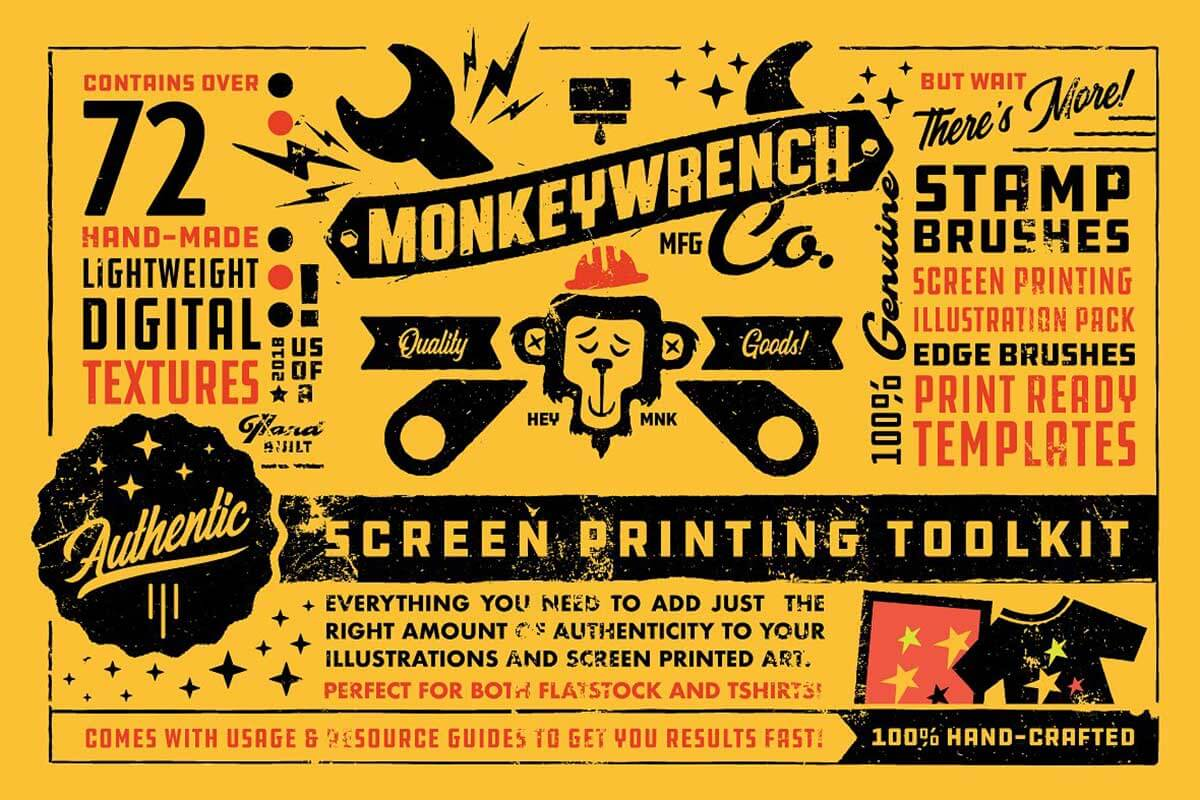 AUTHENTIC SCREEN PRINTER'S TOOLKIT