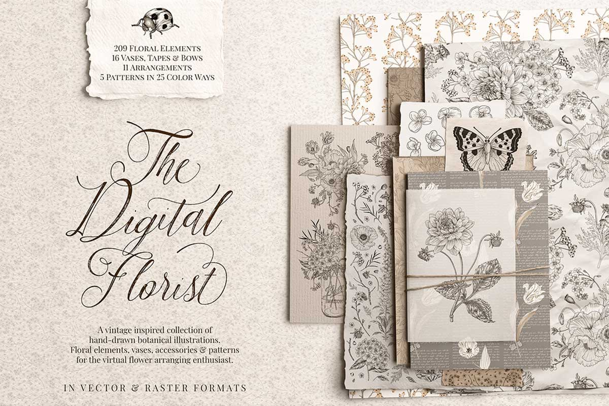 THE DIGITAL FLORIST – VINTAGE INSPIRED BOTANICALS