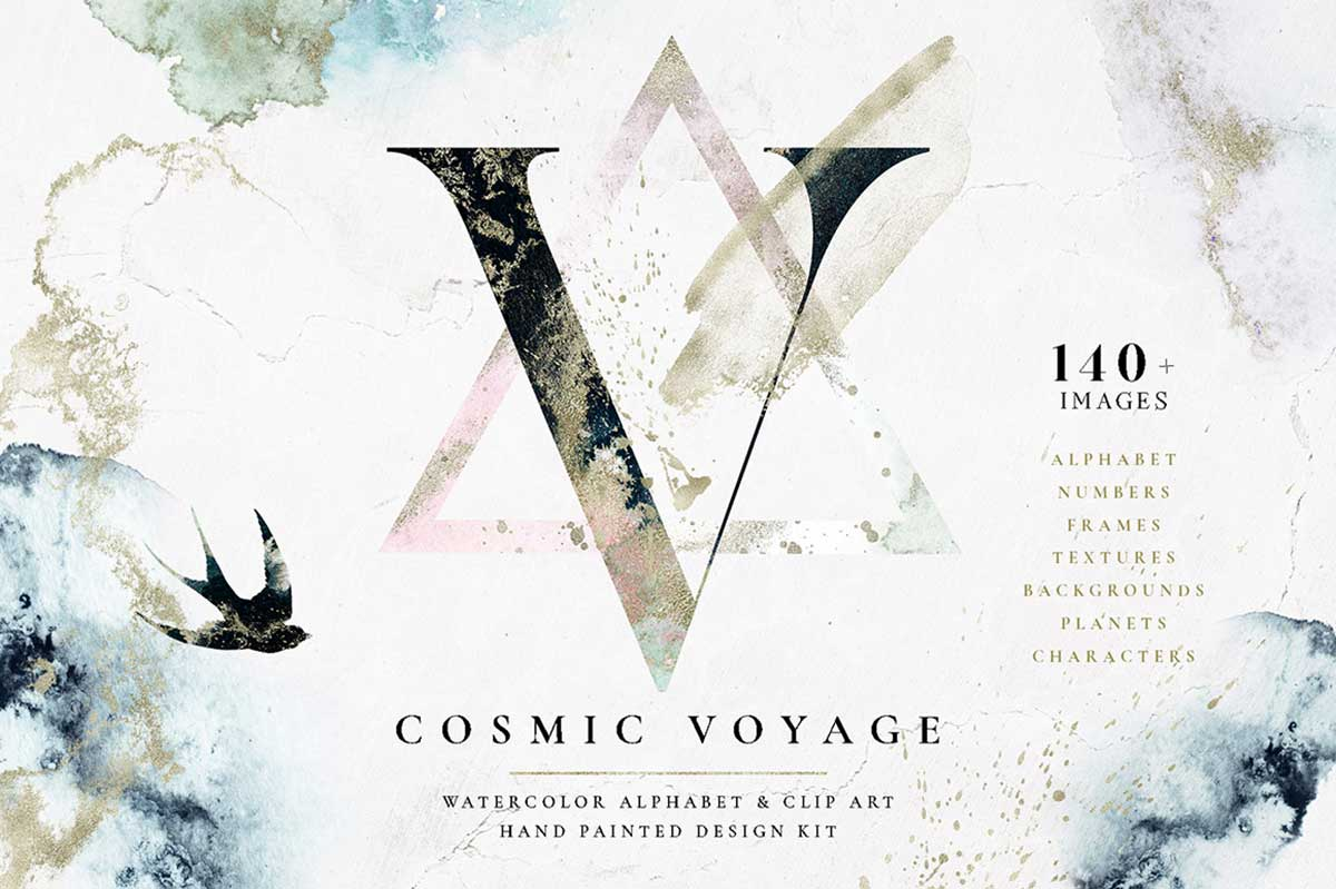COSMIC VOYAGE – ALPHABET DESIGN SET