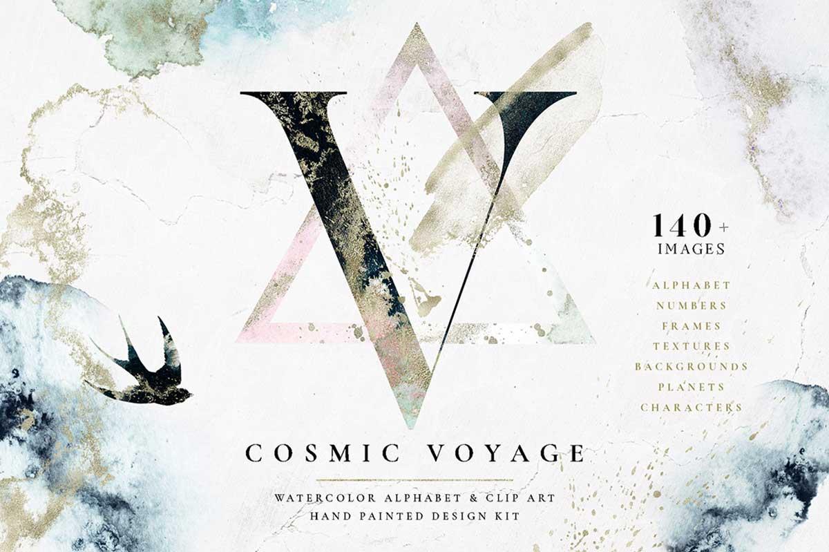 COSMIC VOYAGE – ALPHABET DESIGN SET
