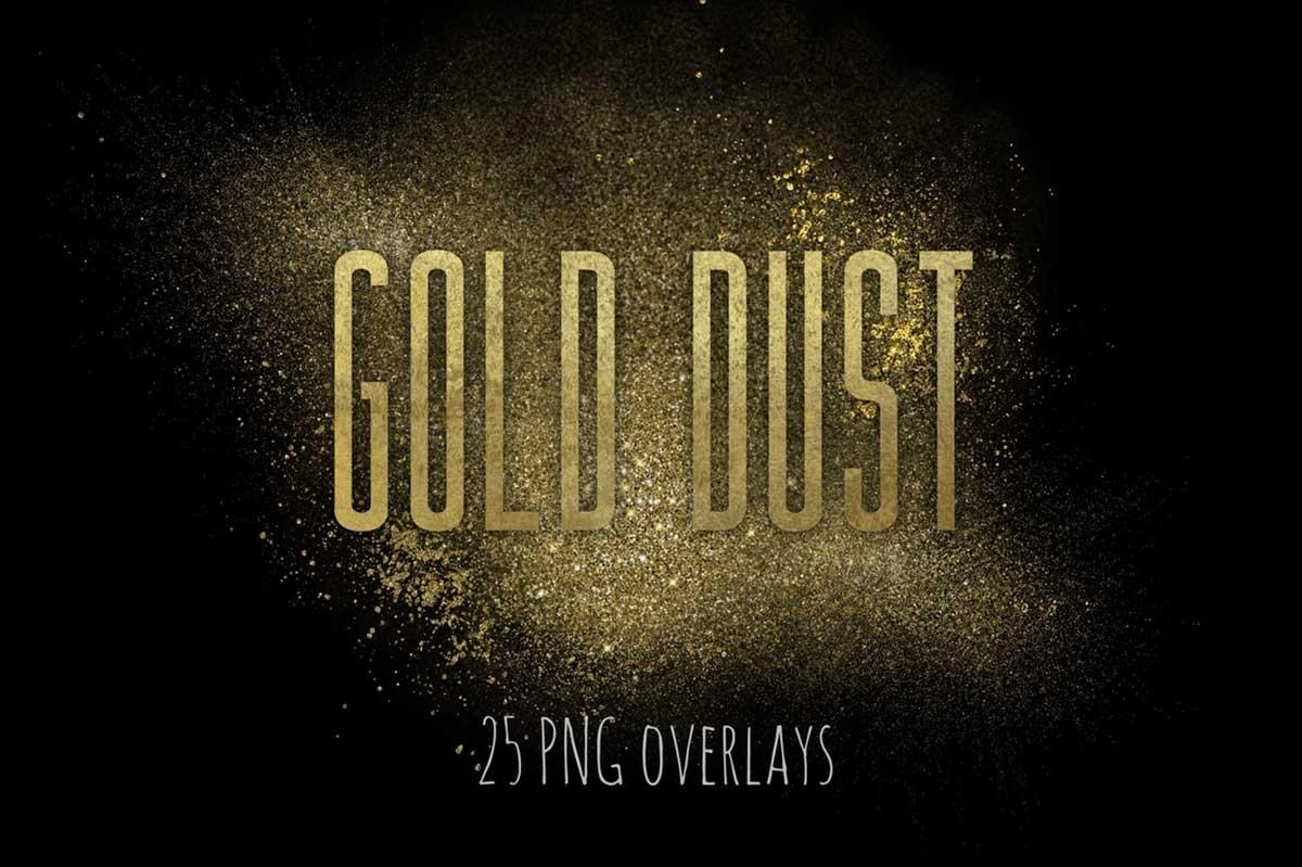 GOLD FAIRY DUST OVERLAYS