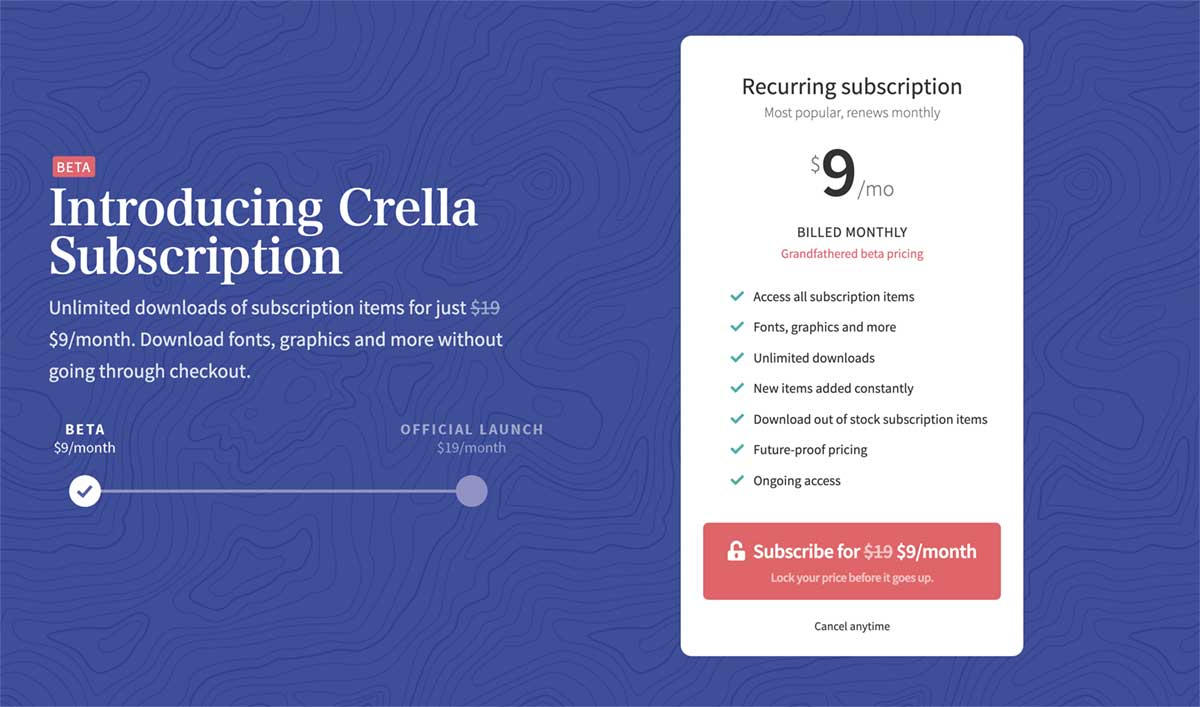 Crella Subscription