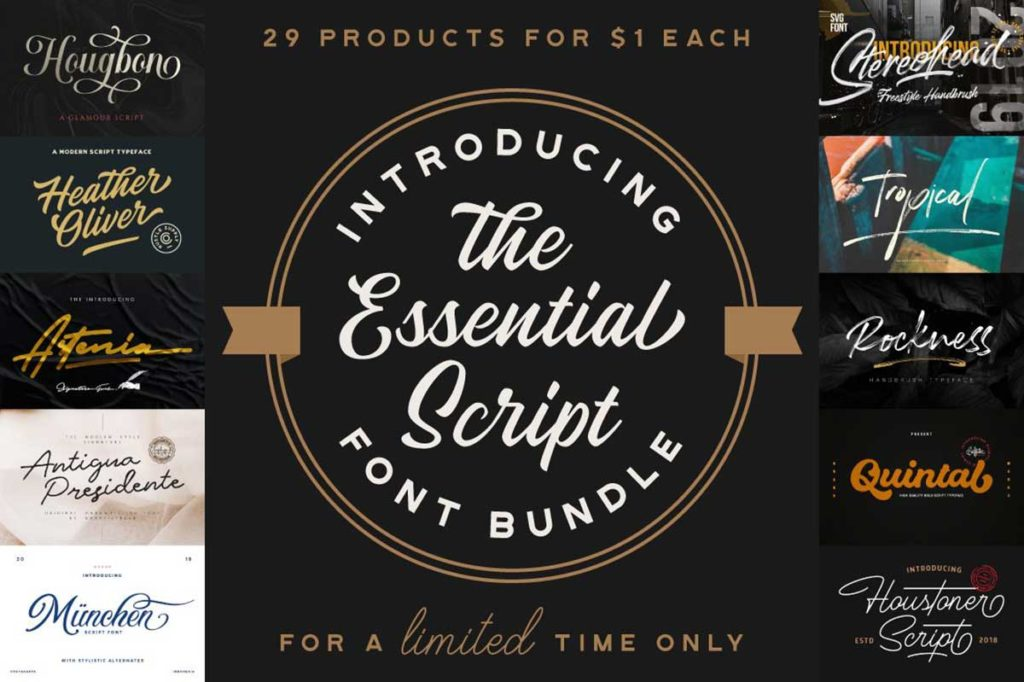 The Essential Script Font Bundle