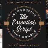 The Essential Script Font Bundle