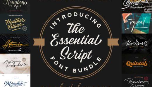 これ欲しい!スクリプト書体だけ29種類入った商用利用可能フォント集が1ヶ月限定販売中【Pixel Surplus】
