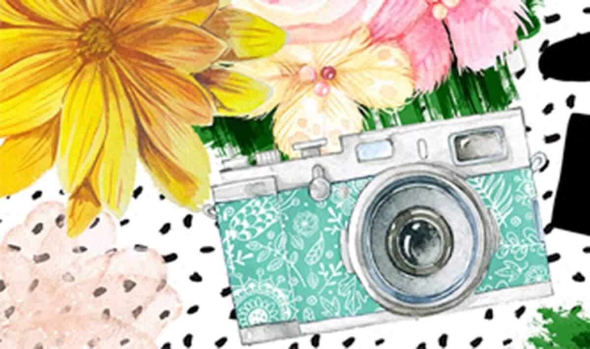 Free: Watercolour Floral and Speech Bubble Vectors Pack