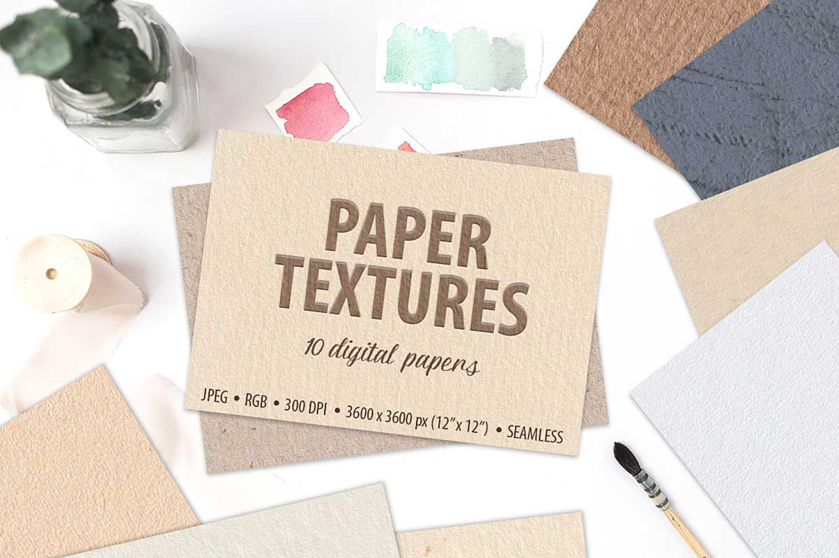 10 SEAMLESS PAPER TEXTURES