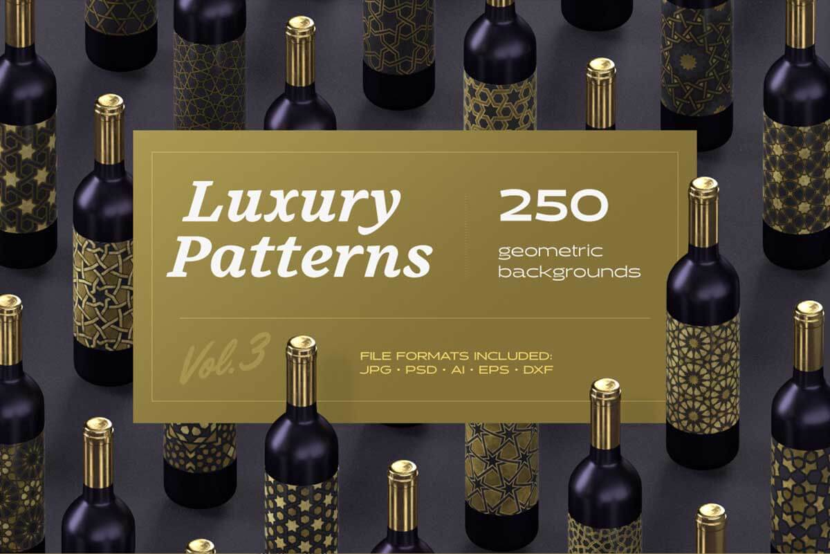 LUXURY PATTERNS – 250 GEOMETRIC BACKGROUNDS