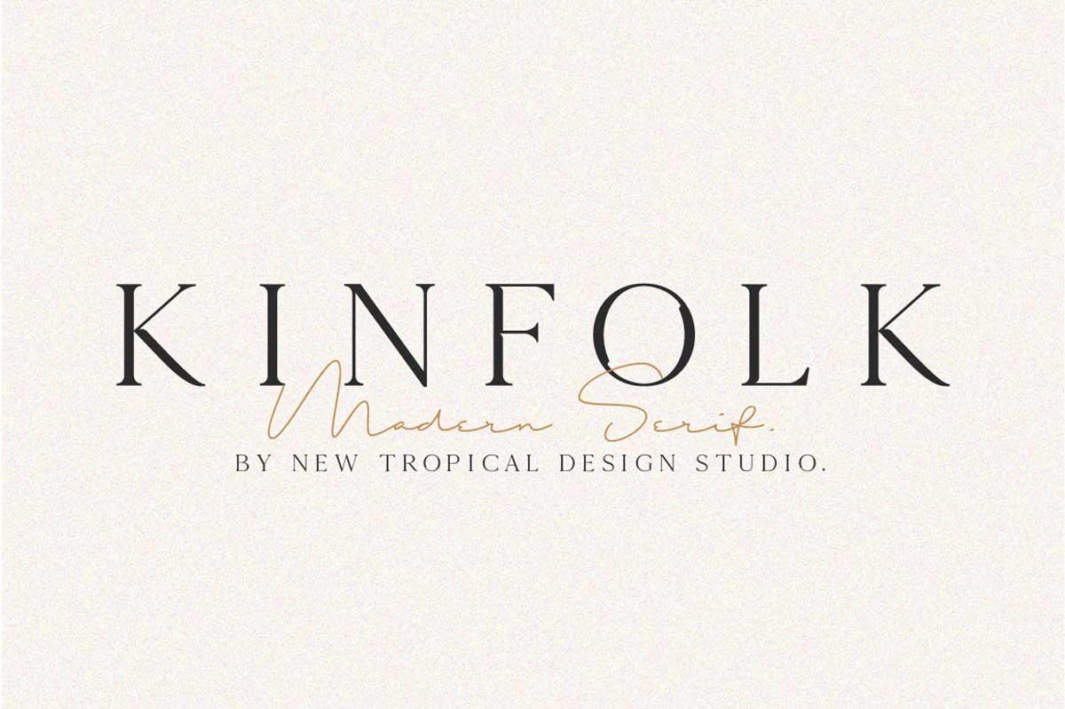 KINFOLK – MODERN SERIF FONT